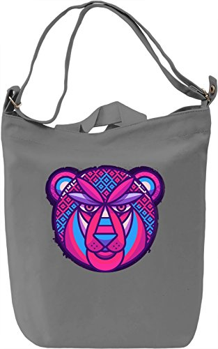 Pink Bear Borsa Giornaliera Canvas Canvas Day Bag| 100% Premium Cotton Canvas| DTG Printing|