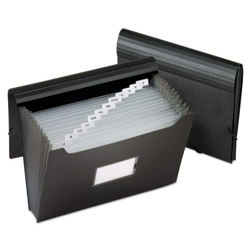 Jumbo 13 Pocket File, 12 Inch Expansion, Poly, Letter, Black, Sold as 1 ()