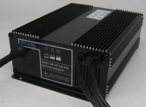 Q-Batteries Cargador de Alta frecuencia de bajo Consumo de 24 V 10 A por S.P.E. Cargador.
