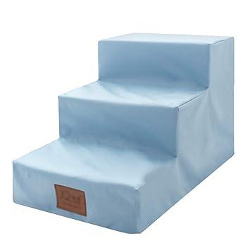 Escaleras BSNOWF- Azul Pet Impermeable 3 Niveles Comfort Perros Paso Amortiguador Interior Casa Sofá Cama Sofá 60 × 40 × 40 Cm: Amazon.es: Hogar