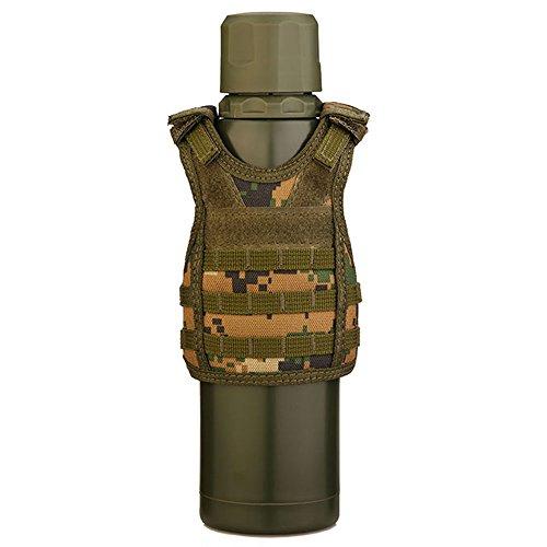 Miniature Beverages - SINAIRSOFT Tactical Premium Beer Military Molle Mini Miniature Vests Beverage Cooler Adjustable Shoulder Straps for 12OZ or 16OZ Beverages Cans and Bottles Jungle Digital
