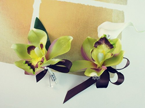 y Orchid Corsage & Boutonniere (Orchid Wrist Corsage)