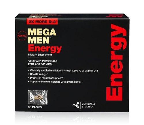 GNC Mega Men énergie Vitapak, 30 paquets
