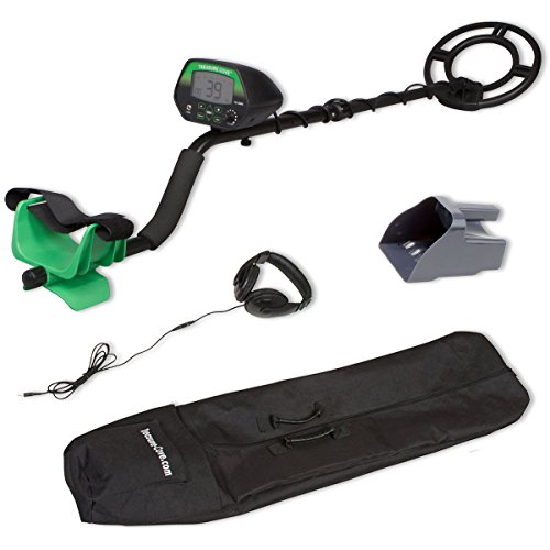 Treasure Cove TC-3050 Easy-To-Use Fast Action Self-Tuning Digital Metal Detector Kit with Bonus Carry Bag Headset Sand Sifter (Treasure Cove Metal Detector)