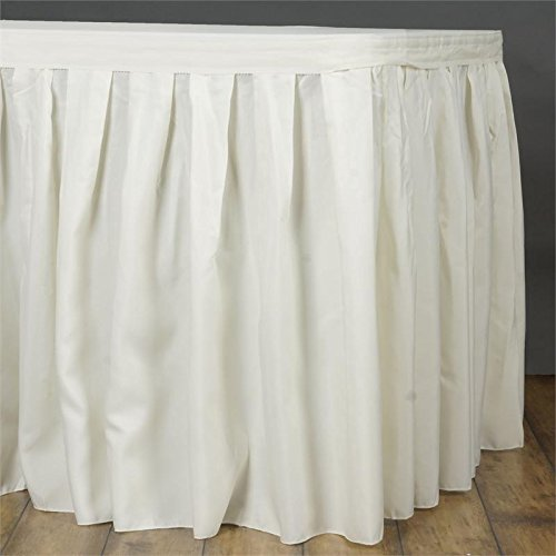 URBY 14' ft Accordion Pleat Polyester Table Skirt (Pleats Poplin Skirt)