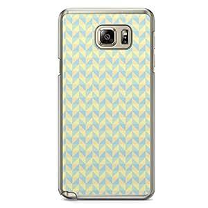 Floral Samsung Note 5 Transparent Edge Case - Geometry B