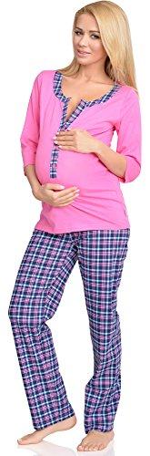 Be Mammy Mujer Lactancia Pijamas Dos Piezas Anette Rosa
