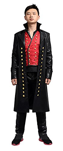 Ouat Captain Hook Costume (Mtxc Men's Once Upon a Time Cosplay Costume Captain Hook Full Set Size Large Black)