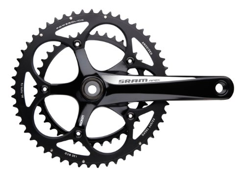 SRAM Apex Cross Crankset, Black/White, 175 mm, 46/32T GXP