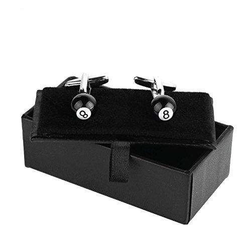 BodyJ4You Cufflinks Eight Ball Pool Billiard Design French Shirt Men Fashion Jewelry Gift Box by BodyJ4You (Image #2)