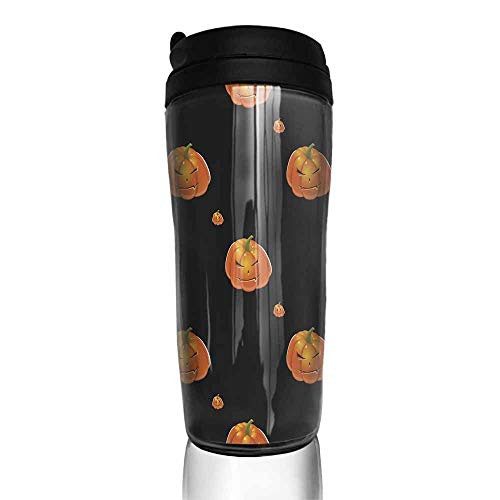 coffee cups with lids Halloween background with pumpkins116 12 oz,coffee cup funny for men -
