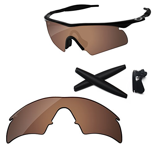 Copper Polarized Frame - PapaViva Replacement Lenses & Rubber Kits for Oakley M Frame Hybrid Pro+ Copper Brown Polarized