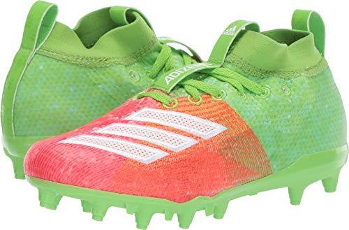 adidas Kids Unisex Adizero Burner Snowcone Football (Little Kid/Big Kid) Solar Green/White/Shock Red 6 M US Big Kid