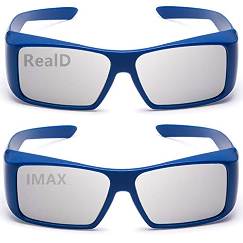 Carefully Designed 3D Glasses for Movie/Cinema/Theater/All Passive 3D TV(RealD&IMAX) 2PACK