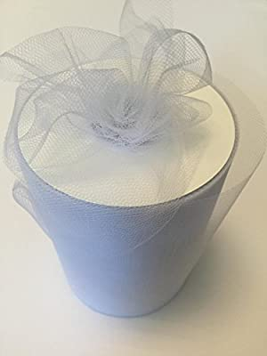 Tulle Fabric Spool/Roll 6 inch x 100 yards (300 feet), 34 Colors Available, On Sale Now! from Gifts International Inc
