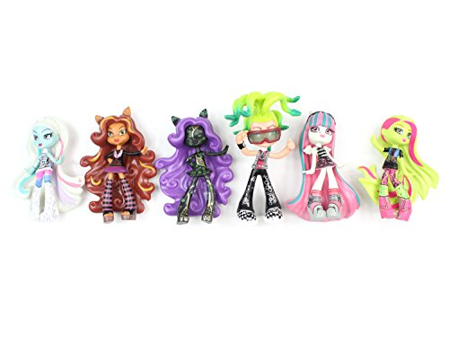 Monster High Dolls Toys Figures 6 Pcs Large 10cm - 12cm