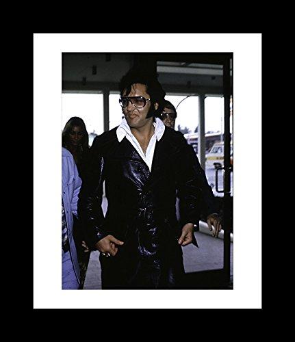 Elvis Presley Wearing Sunglasses And A Leather Jacket - Framed 8