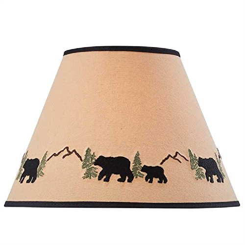 Park Designs Black Bear Embroidered Shade 12 inches