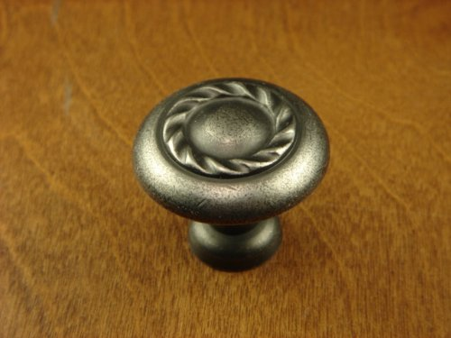 Antique Pewter Designer Series - Sonoma Cabinet Hardware Tudor Knob Antique Pewter Kitchen Drawer Designer