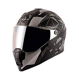 Vega Storm Drift Dull Black Silver Helmet-M