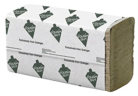 Brown Paper Towels Multifold, 16 Pack, 250 Sheets/Pack
