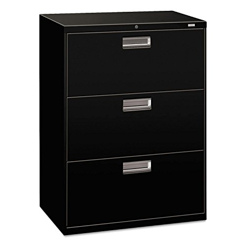 HON 673LP 600 Series 30-Inch by 19-1/4-Inch 3-Drawer Lateral File, Black by HON