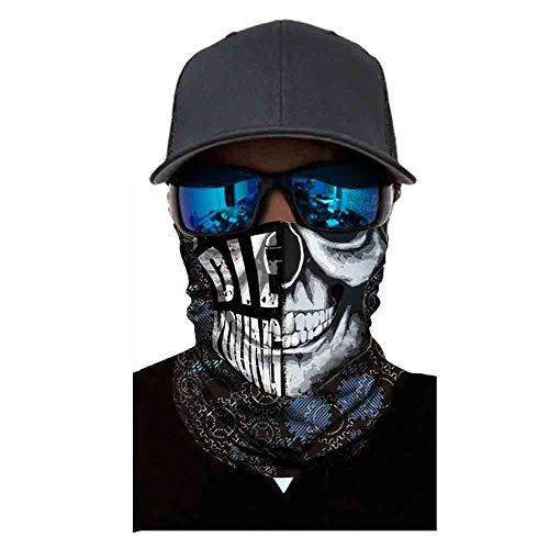 UOKNICE Halloween Shantou Mask Sunscreen Windproof Dustproof CS Ghost Reflective Mask Headgear ()