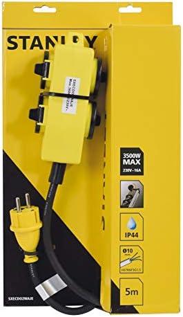 Alargador de Obra 4 enchufes 16 A Longitud 5 Metros. IP44 T con v/álvulas Cable HO7RN-F 3G1,5 mm2