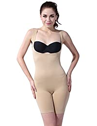 Franato Women's Wear Your Own Bra Mid-Thigh Slimming Unitards Shapewear