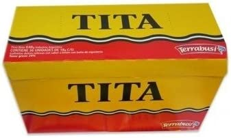 Terrabusi TITA Galletitas de Chocolate Rellenas con Sabor a Limon - BOX of 36.