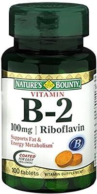 Nature's Bounty Vitamin B-2 100 mg, 100 Tablets