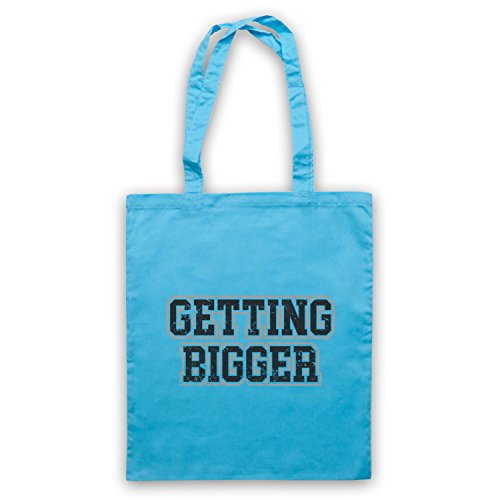 Getting Bigger Bodybuilding Workout Slogan Bolso Azul Cielo
