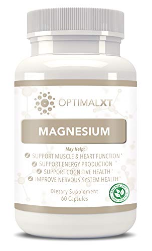 OptimalXT 100% All Natural, GMO Free & Gluten Free - Best Pure Magnesium Dietary Supplement