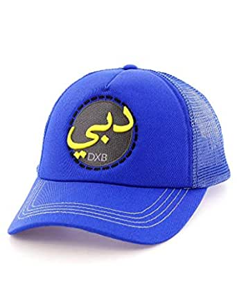 B180 Dubai Arabic Font Blue Cap For Men
