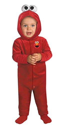 [UHC Sesame Street Tickle Me Elmo Infant Toddler Outfit Halloween Costume, 12-18M] (Tickle Me Elmo Halloween Costume)
