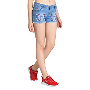 GUTI Womens Distress Cotton Lycra Sexy hot Pants