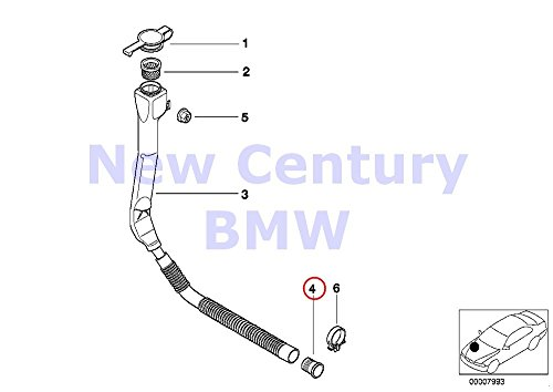 - BMW Genuine Filler Pipe For Wash Container Fluid Container Grommet 525i 528i 530i 540i 540iP M5