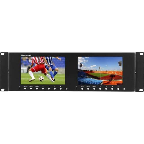 - Marshall Electronics M-LYNX-702-V3, Dual 7 Inch 3RU LCD Rack Mount Monitor