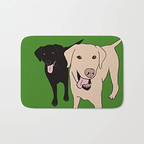 Custom Decorative Doormats Tanner and Lilly Best Labrador Buddies Non-Slip Mat 16x24 inch Doormat Non-Slip Rug Kitchen Dining Living Hallway Bathroom Pet Entry Rug