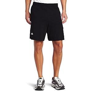 Russell Athletic Men's Cotton Baseline Short with Pockets, Black, Medium