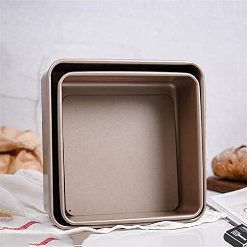 ZHANGXIAO Plat De Cuisson, Moule À Gâteau Acier Carbone Pas Collant Pain Biscuit Plat De Cuisson Accueil Four (Taille : 21.8×21.8×7.9cm)