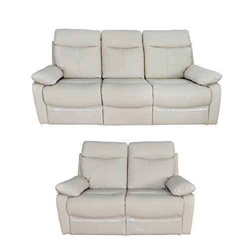 Christies home living ryker 3 piece taupe leather for Brighton taupe 3 piece chaise and sofa set