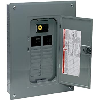 Square d by schneider electric hom1224m100pc homeline 100 amp 12 square d by schneider electric qo plug on neutral 100 amp main breaker 24 space 24 circuit indoor load center with cover greentooth Gallery