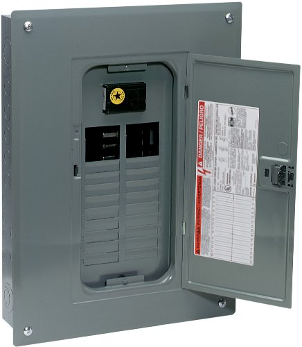 - Square D by Schneider Electric QO Plug-On Neutral 100 Amp Main Breaker 24-Space 24-Circuit Indoor Load Center with Cover