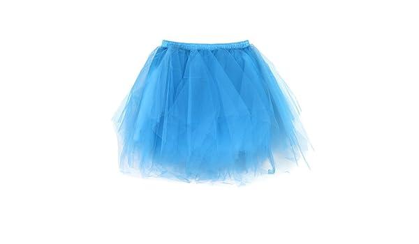 ZHMEI - Falda Corta de Tul Vintage de los años 50 Azul Celeste ...