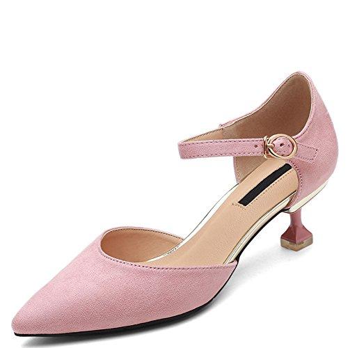 Talons Bout De Femmes Mariée De De Ruiren Chaussures Bal Pointu Rose Chaussures Mariage Bretelles Stiletto Haute Court pX5pxzfw