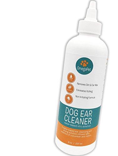 OmegaPet Hund Ohrreiniger, 100% Wirkung in 2-3 Tagen bei Juckreiz, Geruch, Ausfluss, Hunde- und Katzenohren, saubere alkoholfreie Pflege und Hygiene Ohrenreiniger gegen Hefepilze, Milben, Ohrenschmalz und Entzündungen