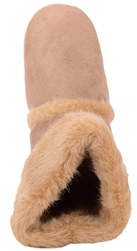Fur Faux Shoes On Inners Slippers Indoor Warm Mens Boots Beige Slip with 58XwWvqzv