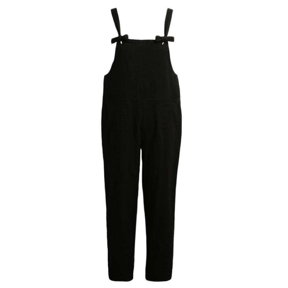 fd645de0c531 Amazon.com  Romacci Women s Strap Overall Pockets Bib Baggy Playsuit Pants  Casual Sleeveless Jumpsuit Trousers  Clothing