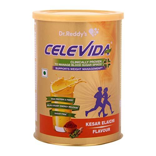 Celevida – Nutrition Health Drink for Diabetes Control & Immunity Support | Kesar Elaichi Flavour| No Added Sugar | 400g